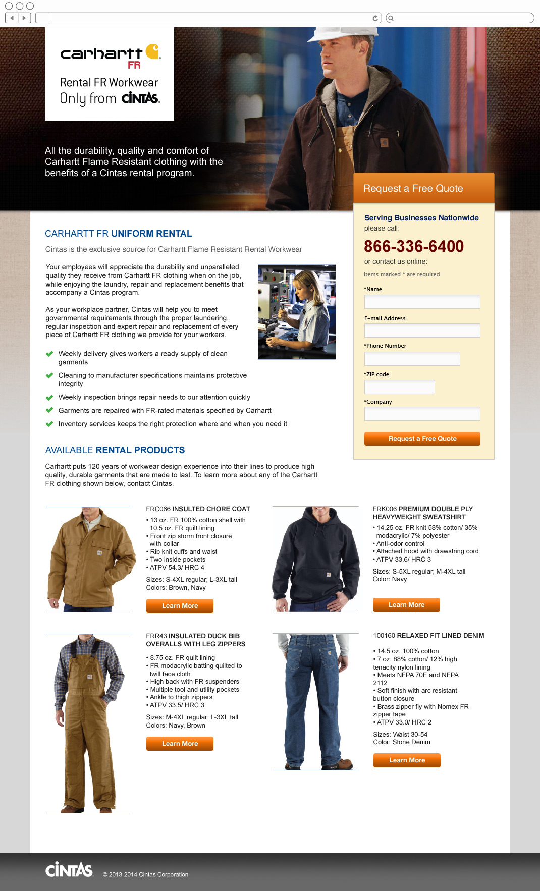 Cintas Uniforms - Carhartt Flame Resistant Clothing