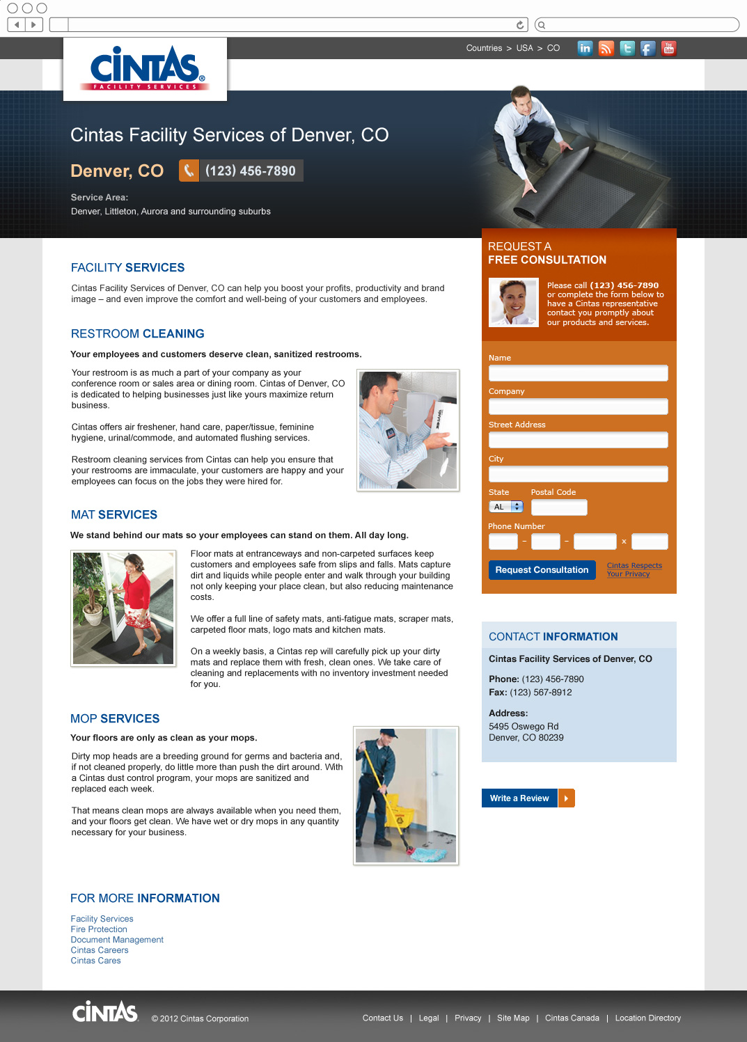 Cintas Facility Services Profile Page