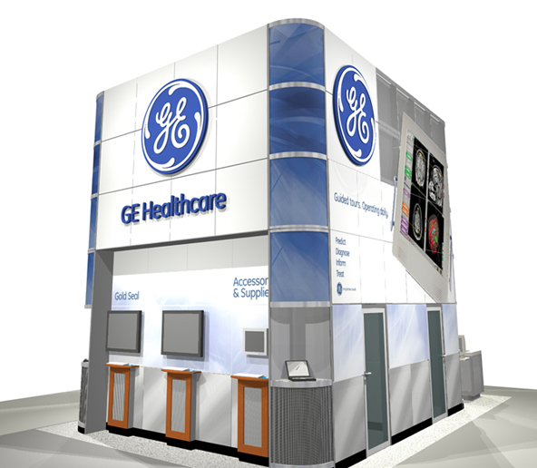 Info booth rendering - back left side graphics