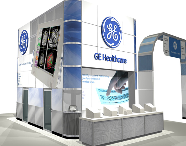 Info booth rendering