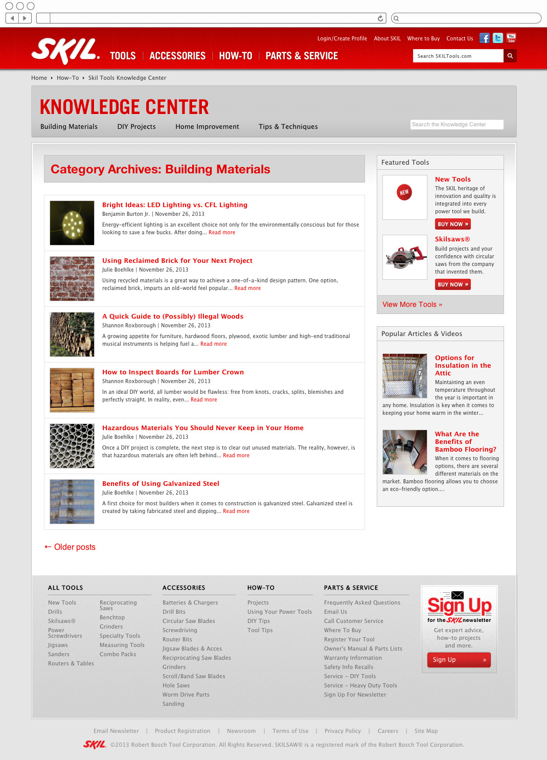 Skil Tools - DIY blog category list page