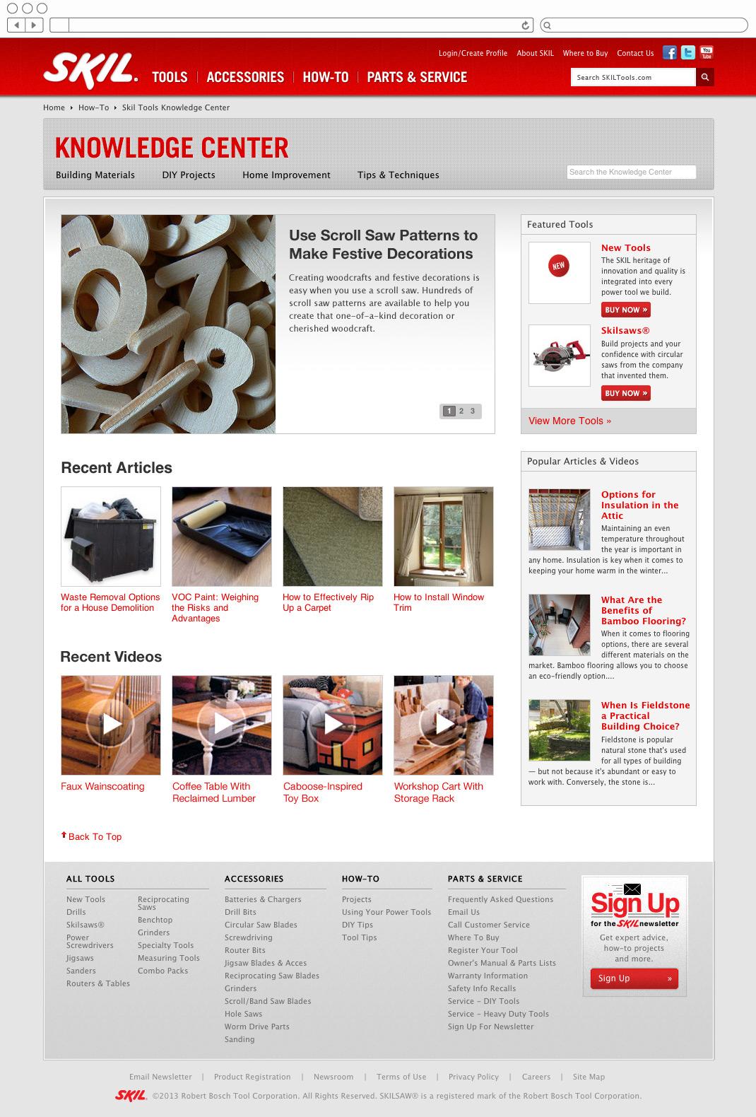 Skil Tools - DIY blog home page